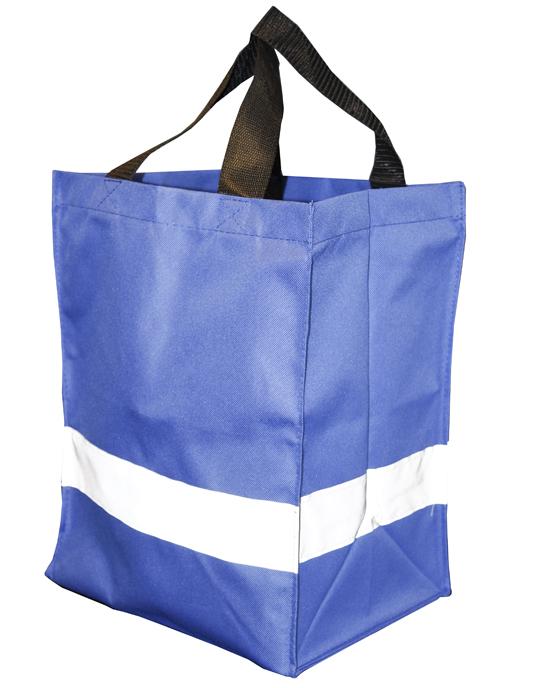 Mėlynas apsipirkimų krepšys